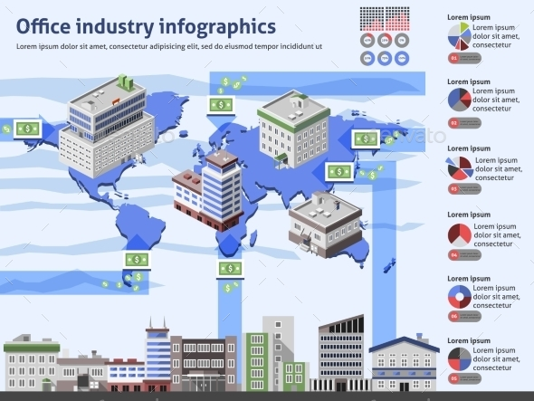 Office Industry Infographics - Infographics