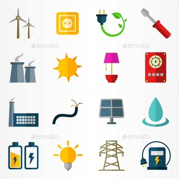 Electricity Icons - Technology Icons