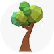 Trees in low poly style - GraphicRiver Item for Sale