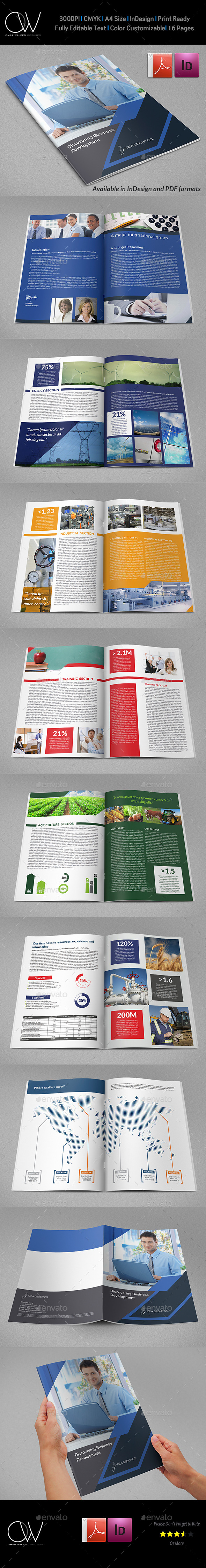 Corporate Brochure Template Vol.40 -16 Pages - Brochures Print Templates