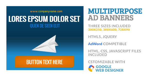 Multipurpose GWD HTML5 Ad Banner 2 - CodeCanyon Item for Sale