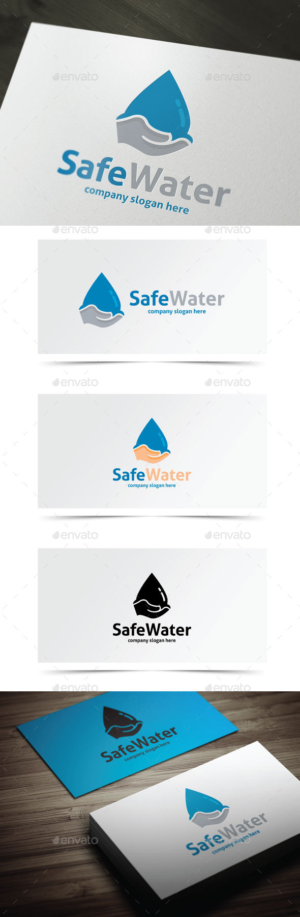Safe Water - Objects Logo Templates