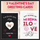 Mi Reina valentine's day greeting cards - GraphicRiver Item for Sale