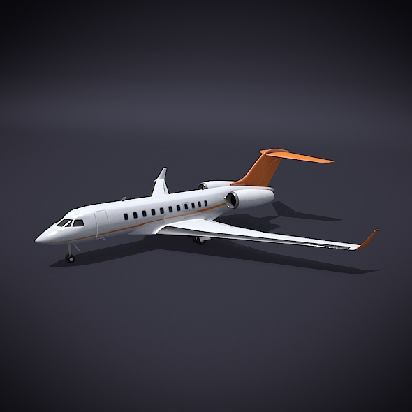 Bombardier 5000 global private jet - 3DOcean Item for Sale
