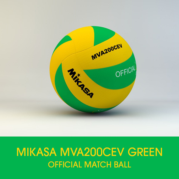Mikasa MVA200 CEV Official Match ball 3D model - 3DOcean Item for Sale