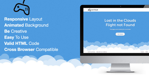 Lost – Responsive 404 Error Template