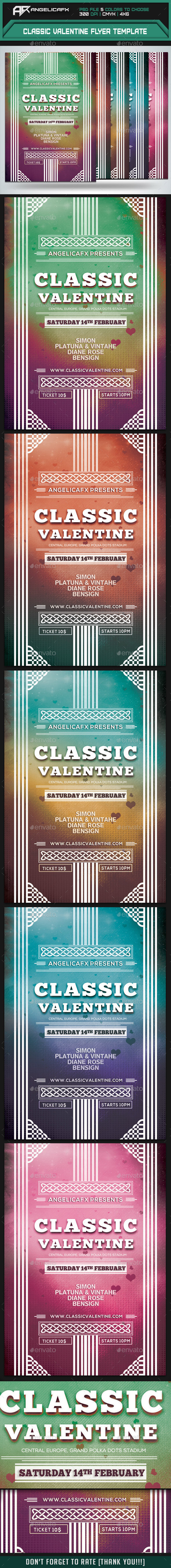Classic Valentine Flyer Template - Events Flyers