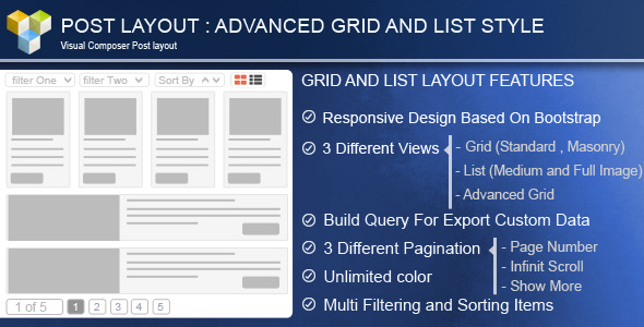 Advance Post Grid/List with custom filtering for Visual Composer - CodeCanyon Item for Sale