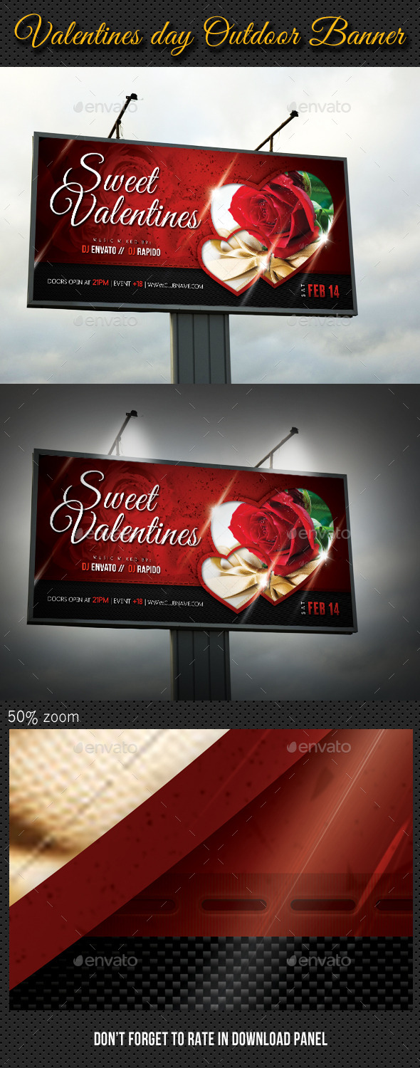 Valentines Day Outdoor Banner - Signage Print Templates