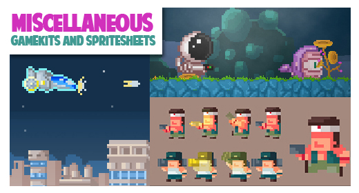 Miscellaneous gamekits and spritesheets collection