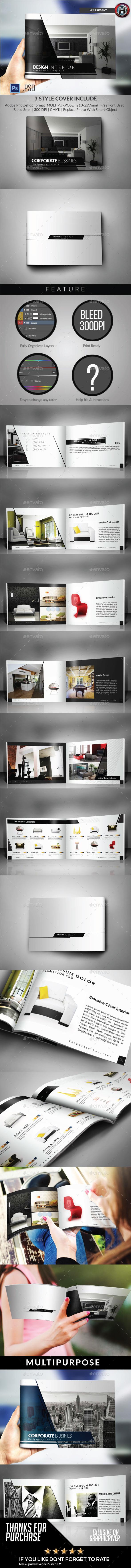 Multipurpose Catalogs / Brochure / Portfolio Template - Brochures Print Templates