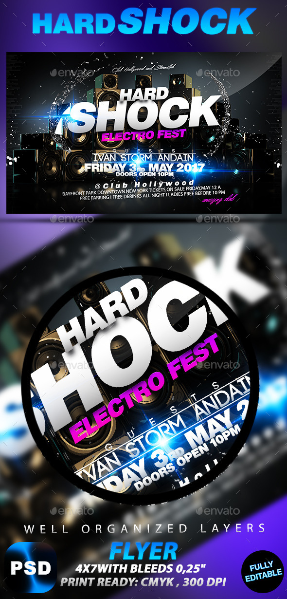 Hard Shock - Events Flyers