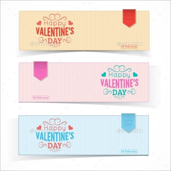 Saint Valentine's Day Banners. - Valentines Seasons/Holidays