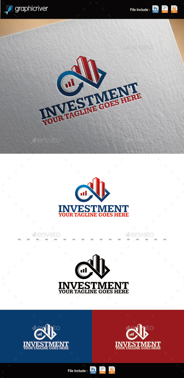 Investment Logo Template - Buildings Logo Templates