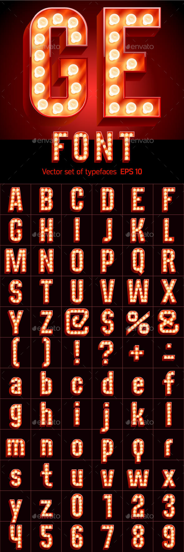 Lamp Board Alphabet - Decorative Symbols Decorative