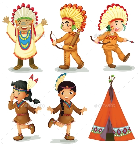 American Indians - People Characters