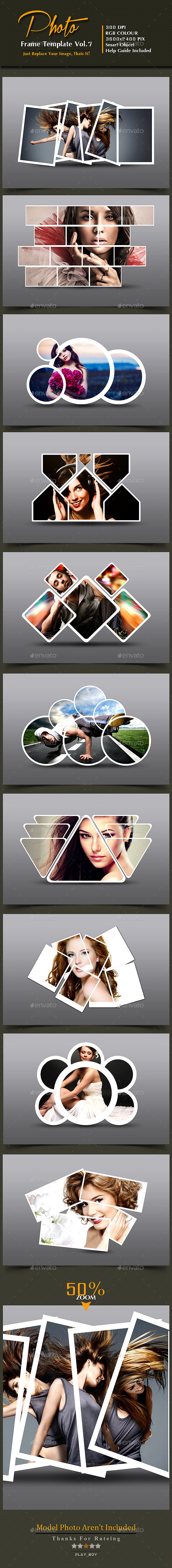 Photo Frame Templates Vol. 7 - Photo Templates Graphics