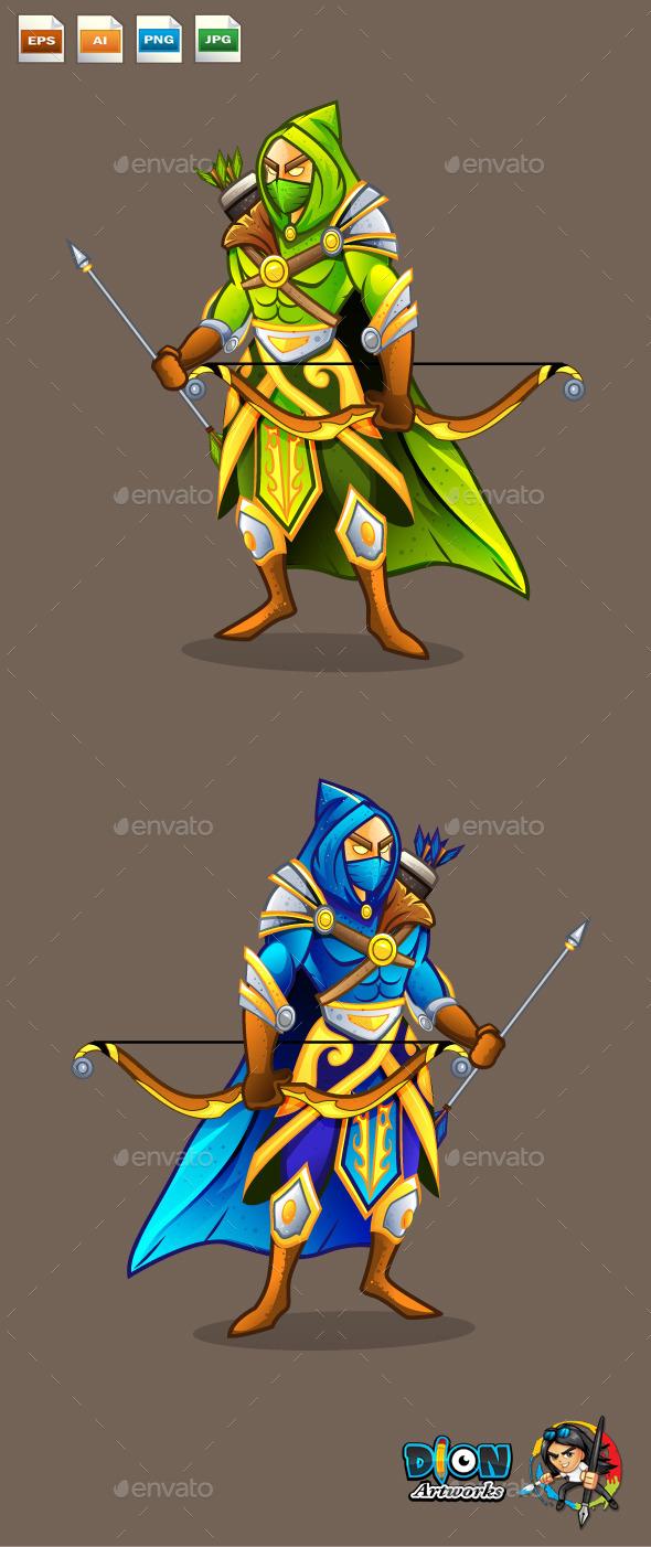 Archer - Characters Vectors