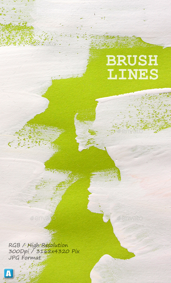 Paint Brush Strokes On Paper 0063 - Art Textures