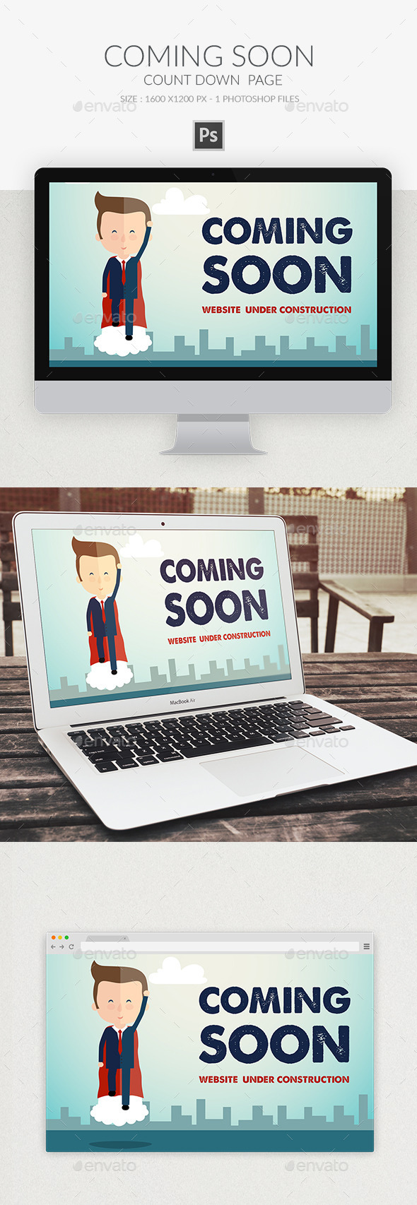 Coming Soon Page PSD 2 - Web Elements