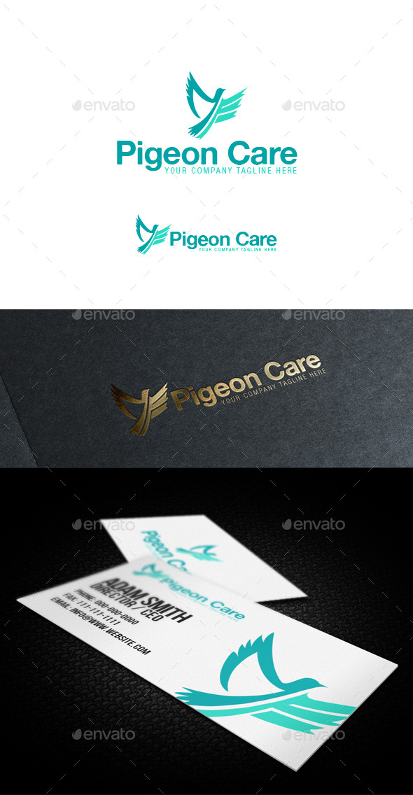 Pigeon Care Logo - Animals Logo Templates