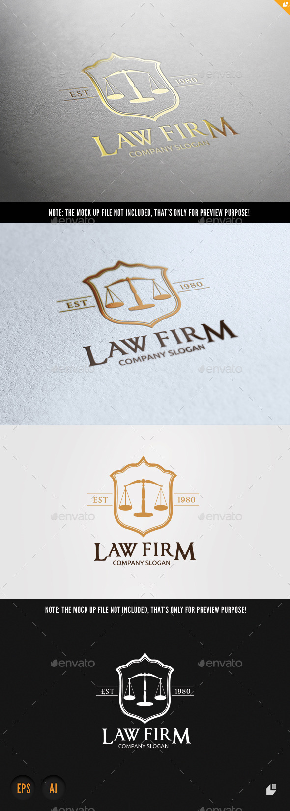 Law Firm - Crests Logo Templates