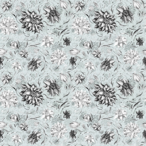 Watercolor Gothic Pattern - Patterns Decorative