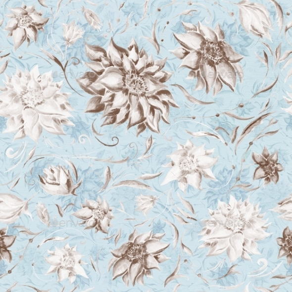 Vintage Watercolor Pattern - Patterns Decorative