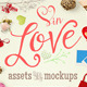 In Love Assets And Mock Ups - GraphicRiver Item for Sale