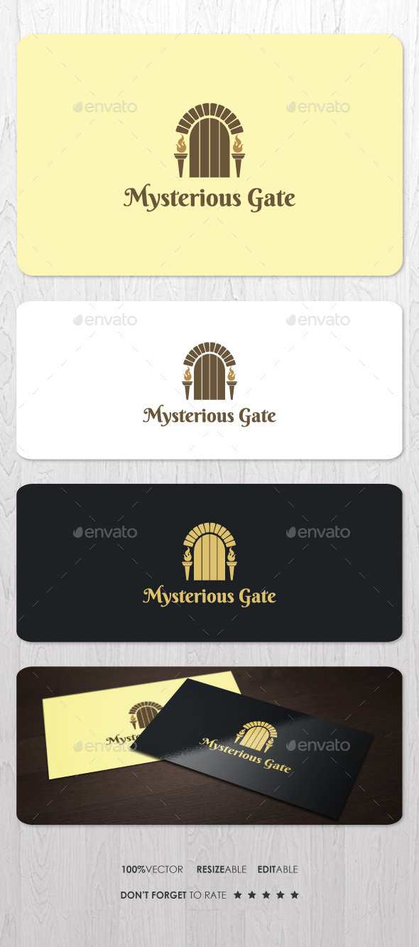 Mysterious Gate Logo - Objects Logo Templates