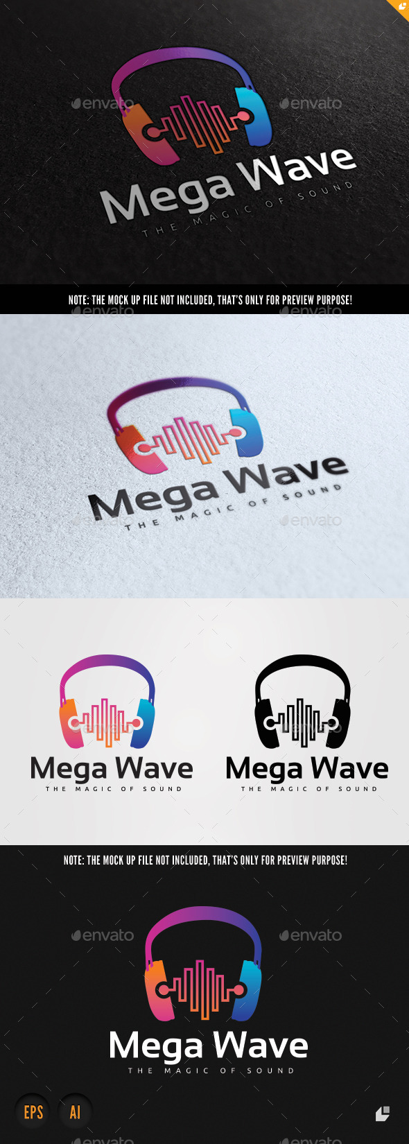 Mega Wave  - Objects Logo Templates
