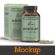 5 Supplement Capsule Bottle Mockups - GraphicRiver Item for Sale