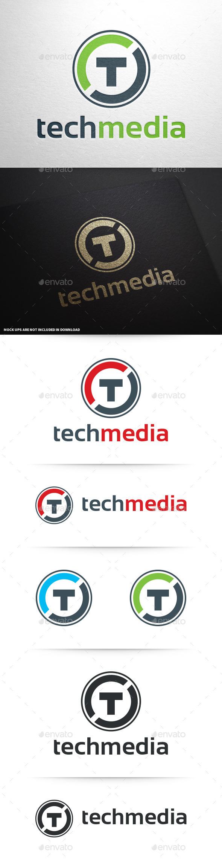 Tech Media - Letter T Logo - Letters Logo Templates