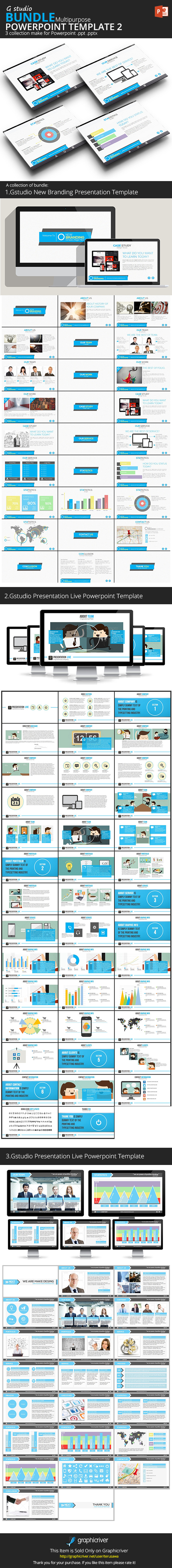 Gstudio Powerpoint Bundle 2 - Business PowerPoint Templates