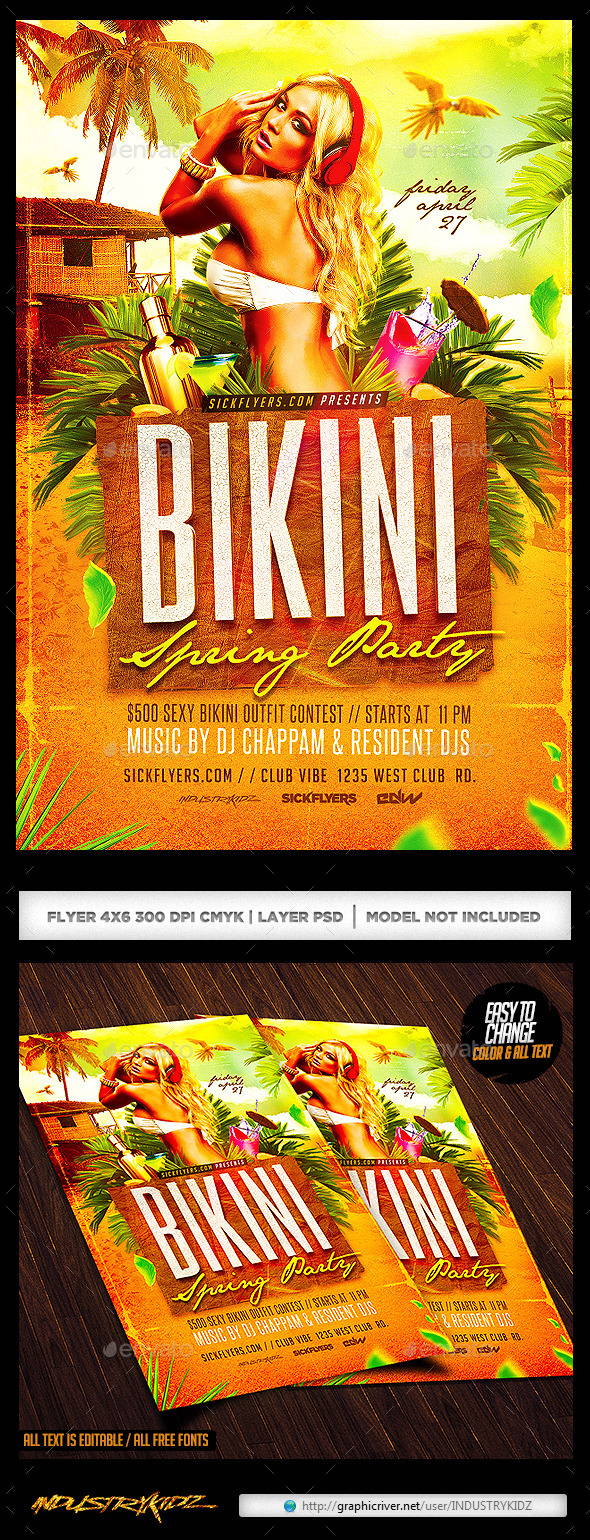 Bikini Party Flyer - Clubs & Parties Events