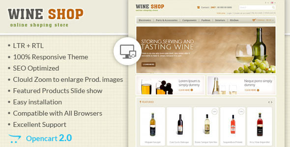 Wine Shop – Responsive OpenCart Theme
