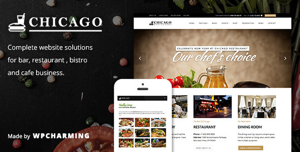 Chicago - Restaurant, Cafe, Bar and Bistro Theme - Restaurants & Cafes Entertainment