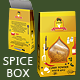 Spice or Herbs Box with Die Cut Shape - GraphicRiver Item for Sale