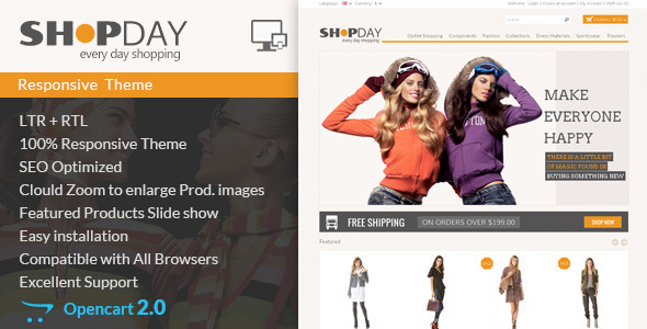 Shopday – Opencart Responsive Theme