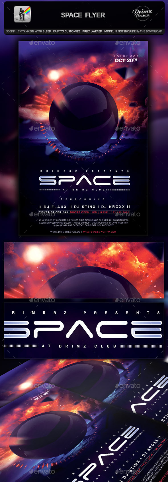 Space Flyer - Events Flyers