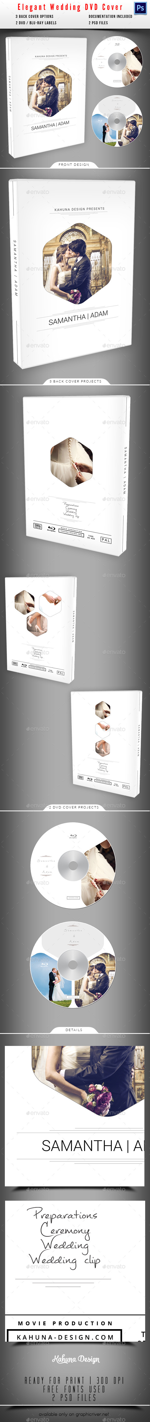 Wedding DVD / Blu-Ray Cover 04 - CD & DVD Artwork Print Templates