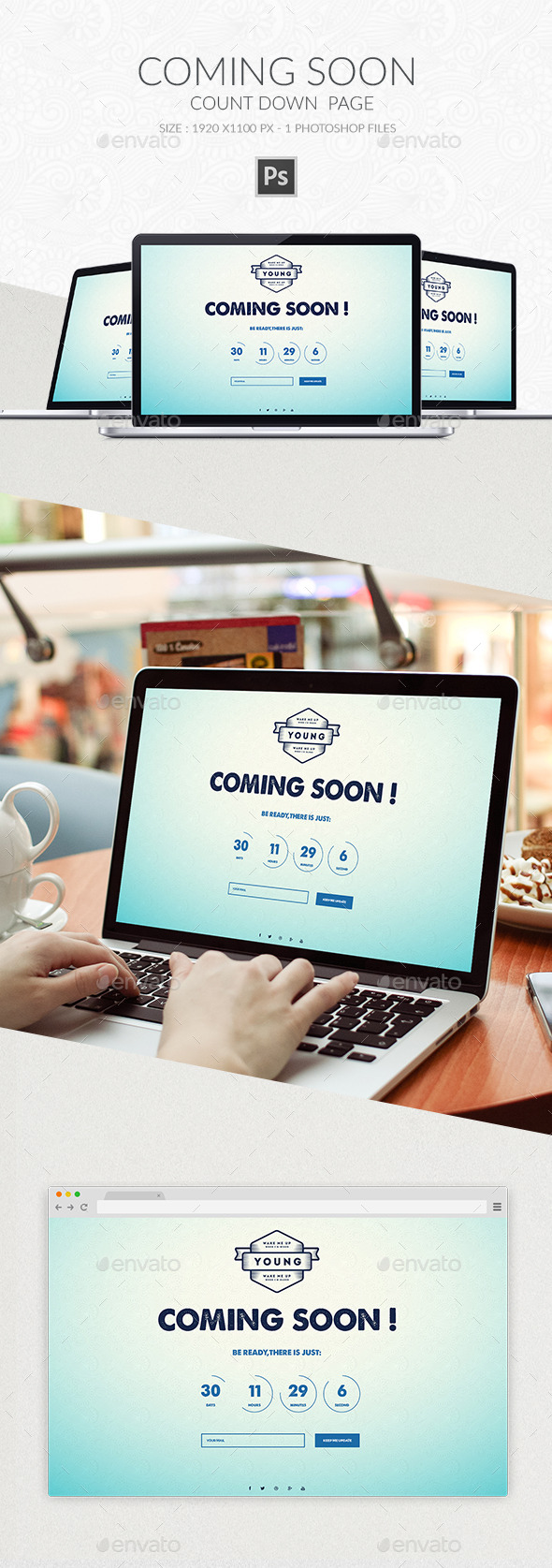 Coming Soon Page PSD 3 - Web Elements