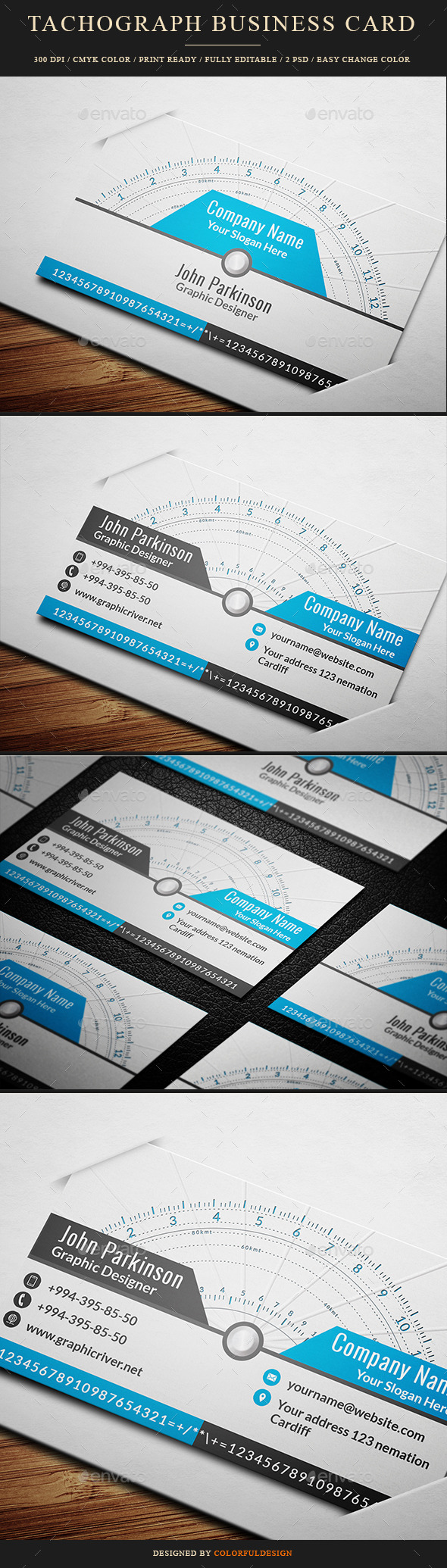 Tachograph Business Card - Creative Business Cards