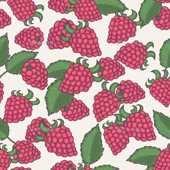 Raspberry Pattern - Flowers & Plants Nature