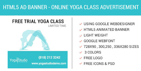 Book Online Yoga Class - HTML5 Animated AD - CodeCanyon Item for Sale