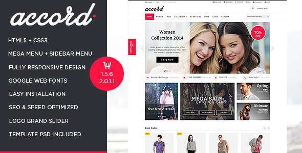 Accord – Responsive Multipurpose OpenCart Theme