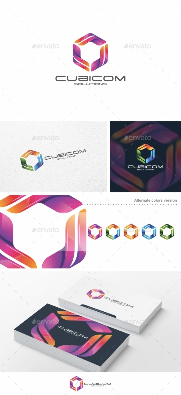 Cubicom - Logo Template - Abstract Logo Templates