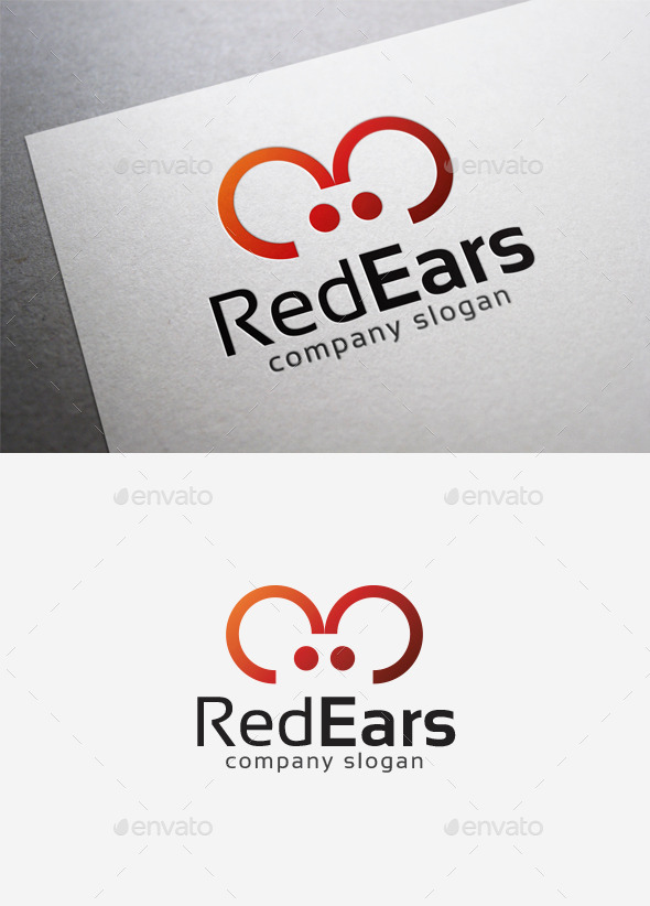 Red Ears Logo - Symbols Logo Templates