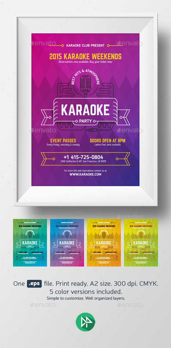 Karaoke Party Poster Template - Events Flyers