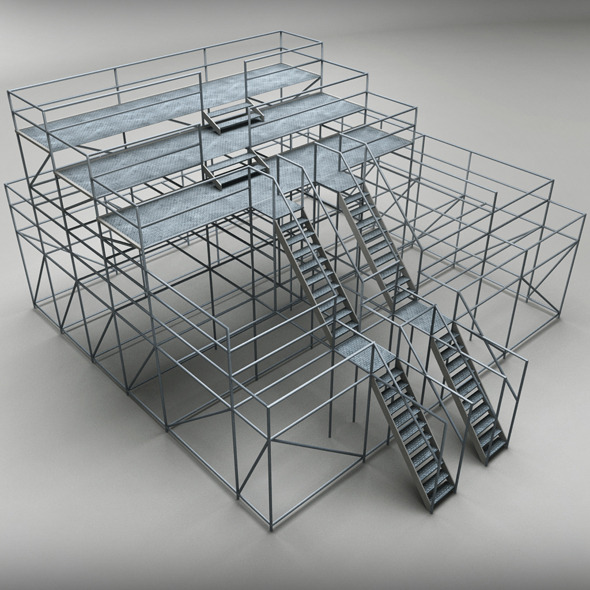 Industrial scaffolding - 3DOcean Item for Sale
